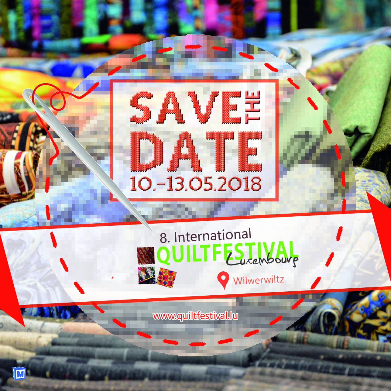 quiltfestival save the date 105mm quadrat